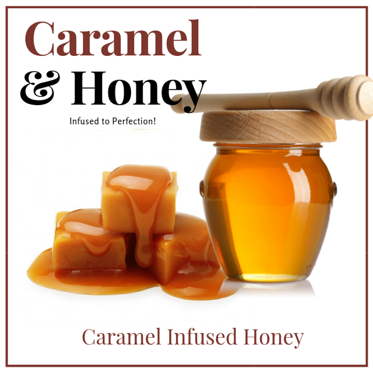 1 LB Caramel Infused Honey