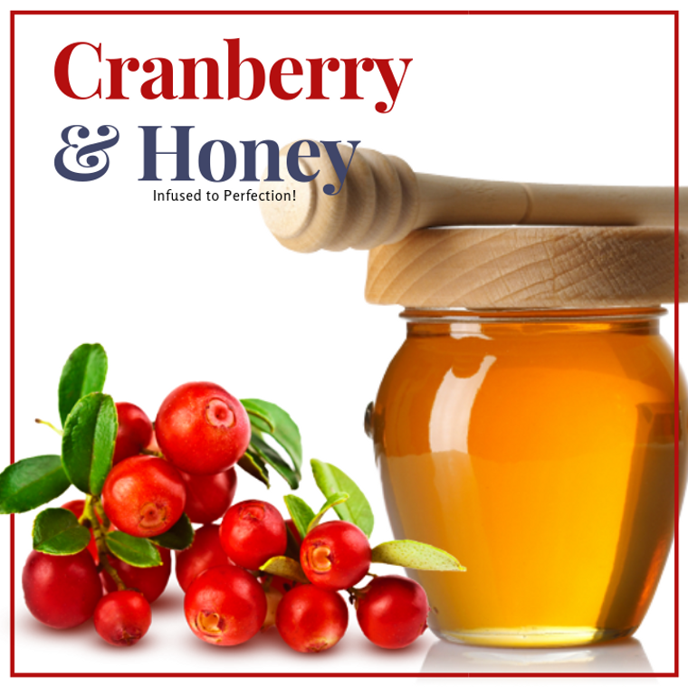 1 LB Cranberry Infused Honey