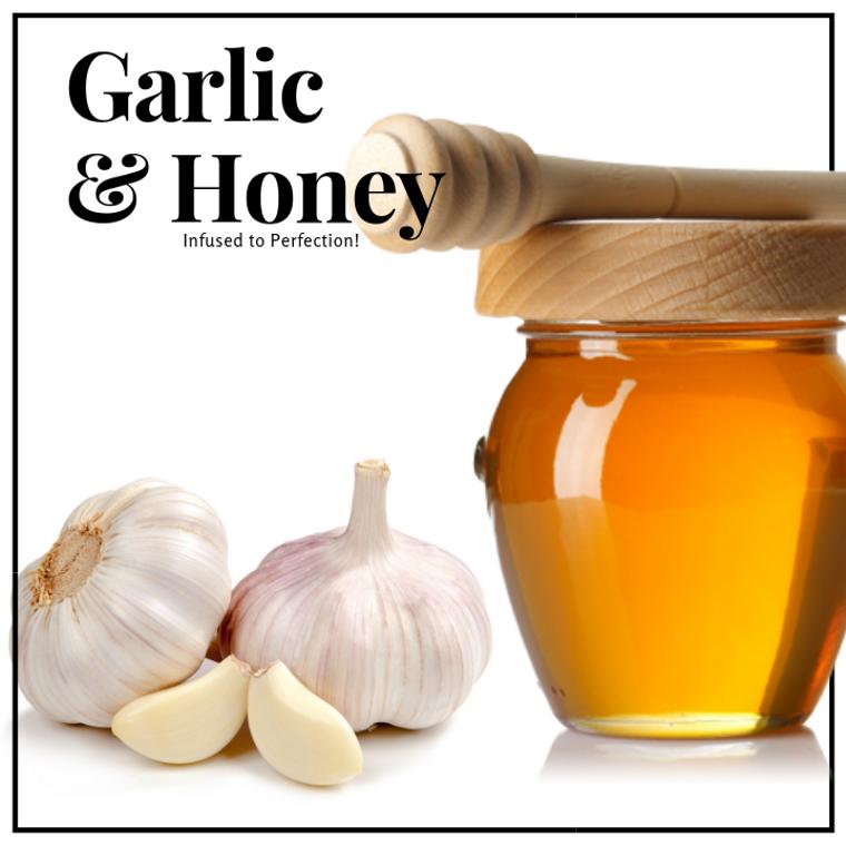 1 LB Garlic Infused Honey