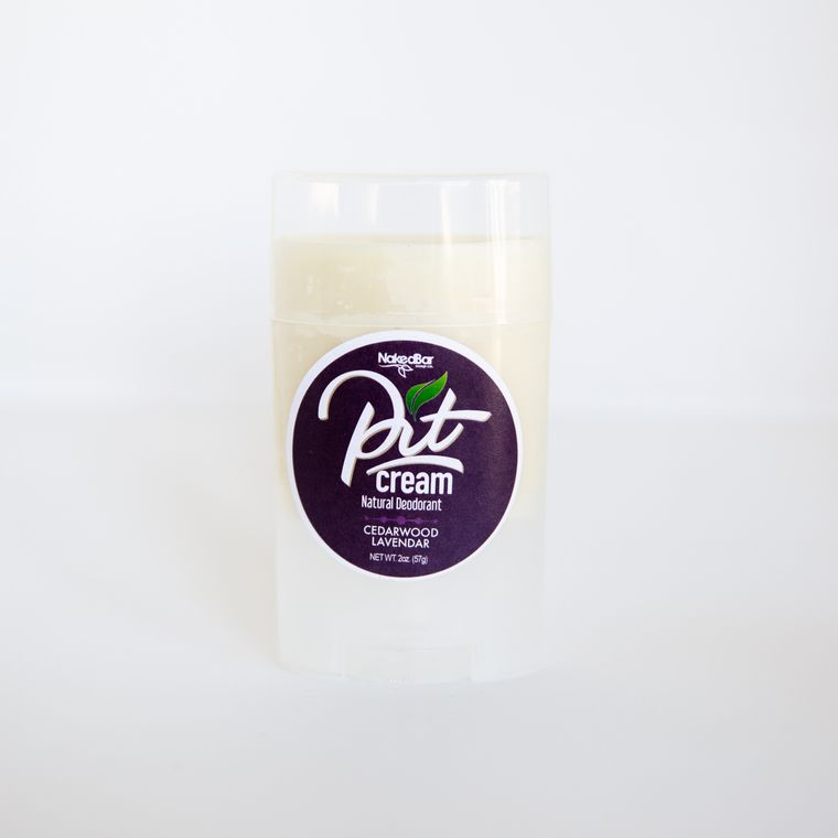 Pit Cream Natural Deodorant Cedarwood Lavender Twist Up