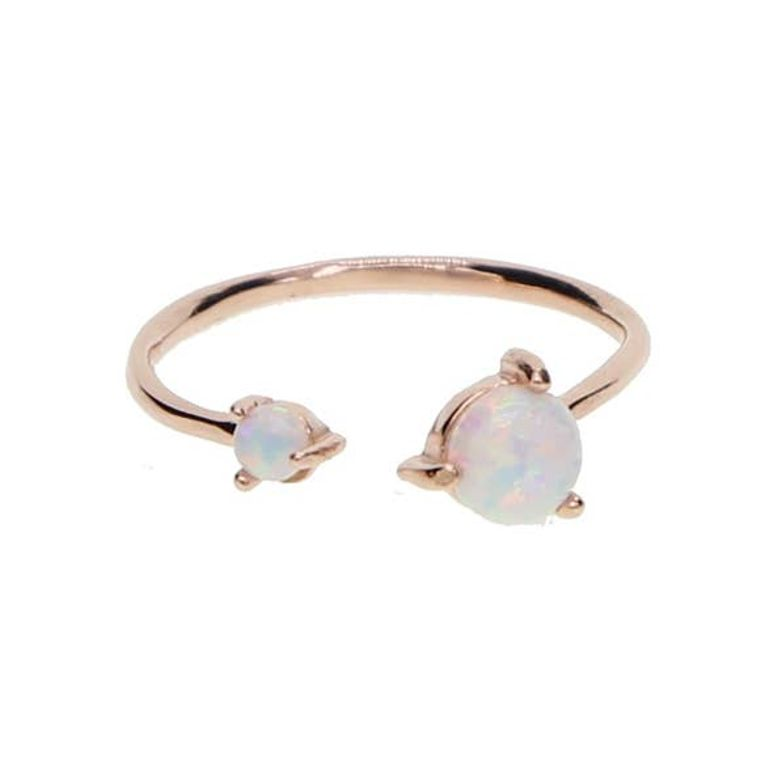 Twisted Opal Ring - Rose Gold