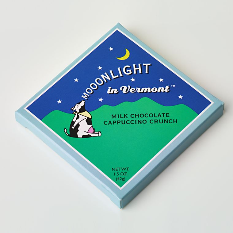 Mooonlight in Vermont Chocolate Bar - Milk Chocolate Cappuccino Crunch