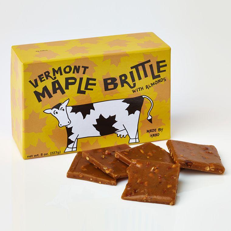 Vermont Maple Brittle With Almonds (8oz box)