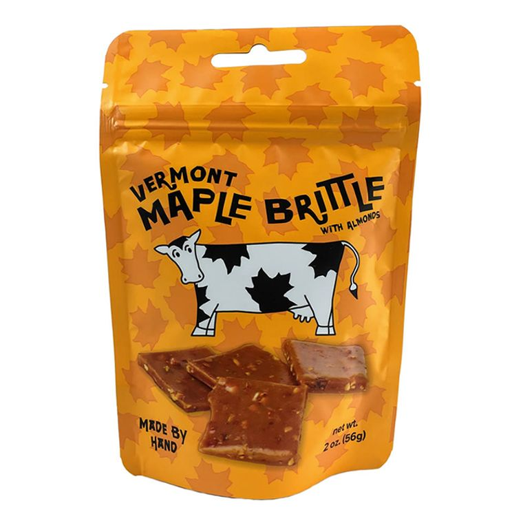 Vermont Maple Brittle With Almonds (2oz pouch)