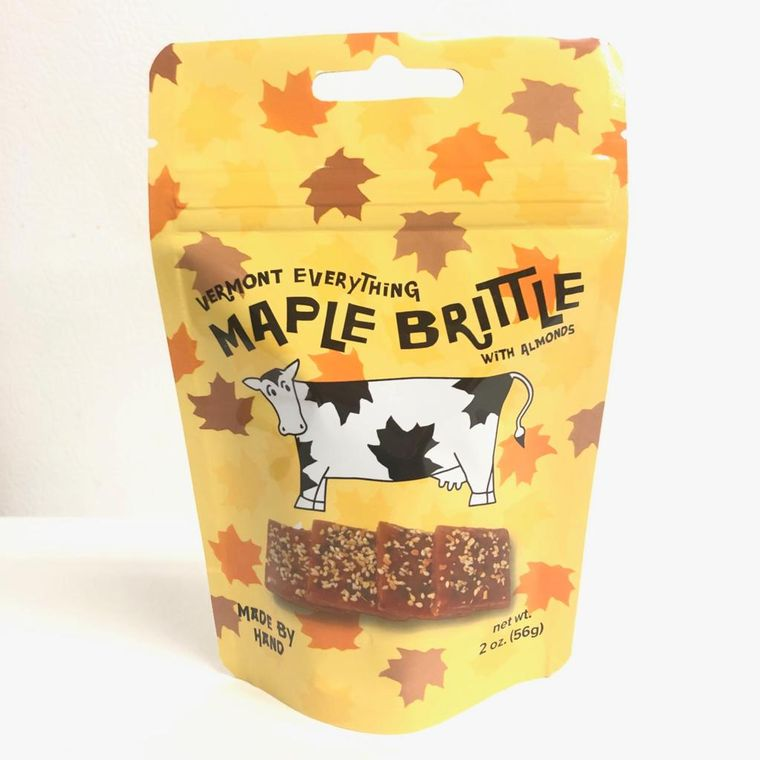 Vermont Everything Maple Brittle With Almonds (2oz pouch)