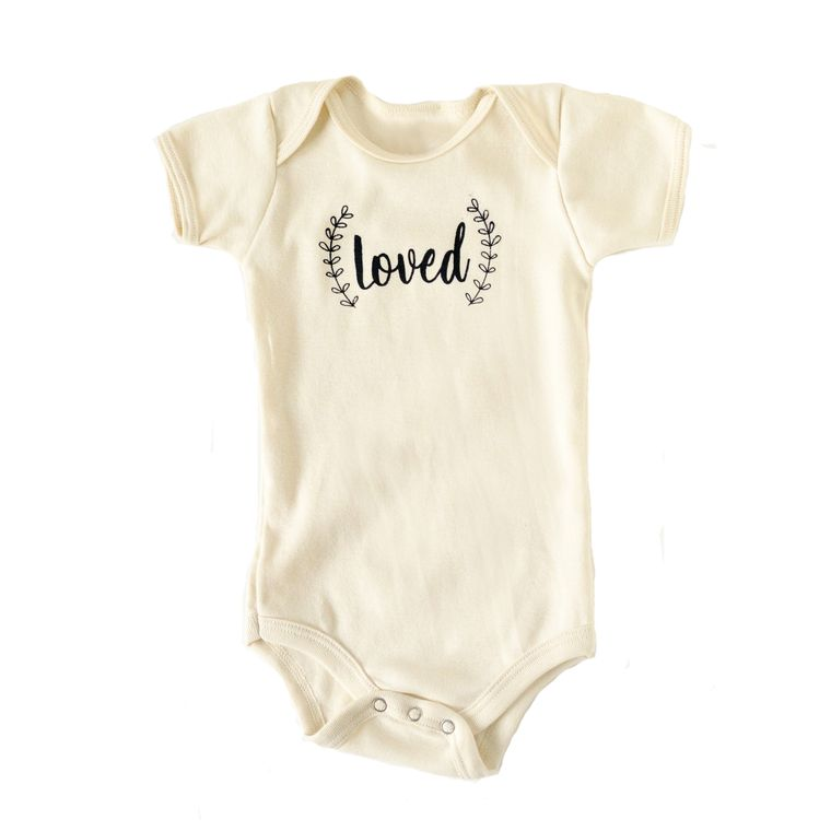 Loved Infant Onesie (in Natural White)
