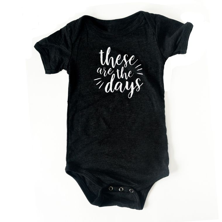 These are the Days Infant Onesie (in Heathered Black)