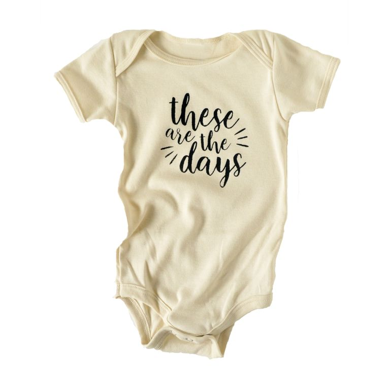 These are the Days Infant Onesie (in Natural White)