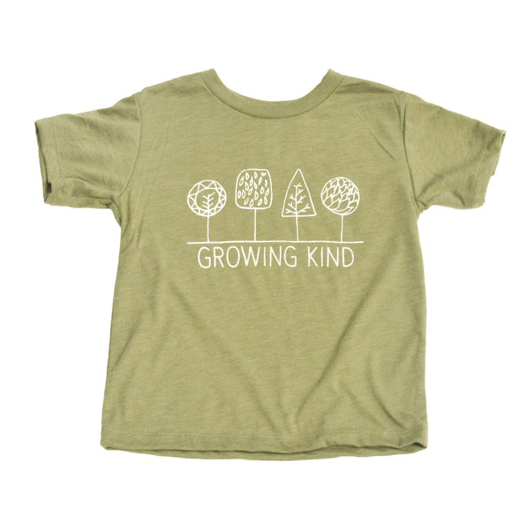 Growing Kind Toddler Tee (Olive Green)