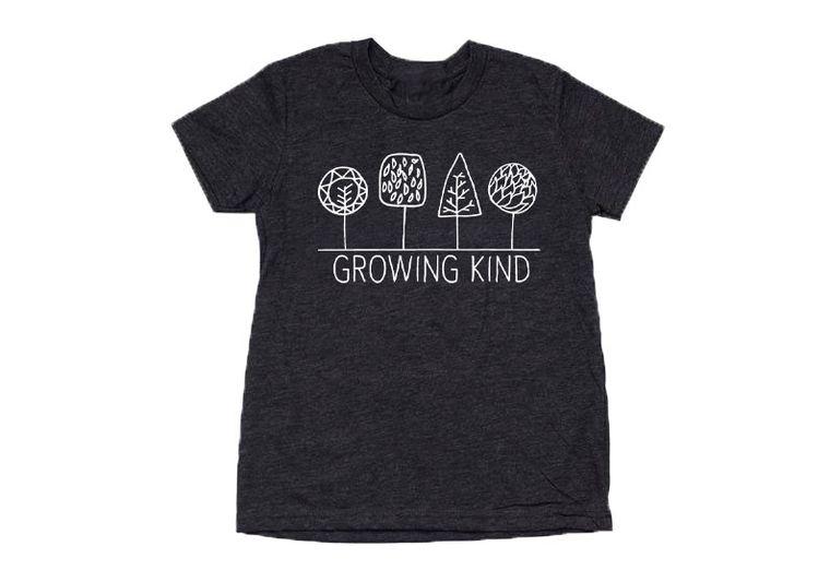 Growing Kind Toddler Tee (Heathered Black)