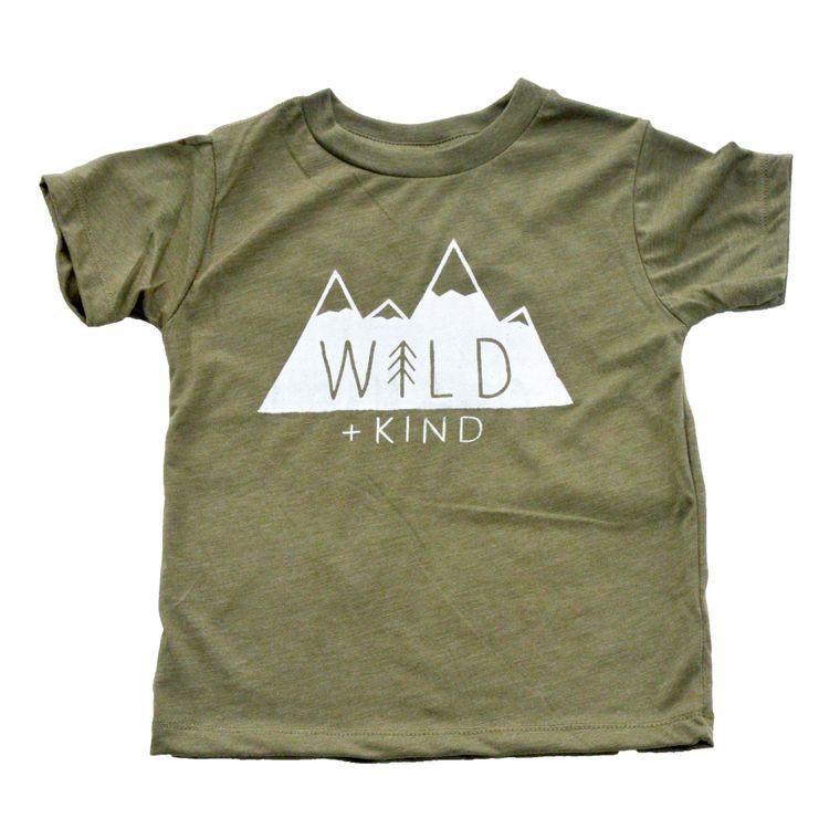 Wild + Kind Toddler Tee (Olive)