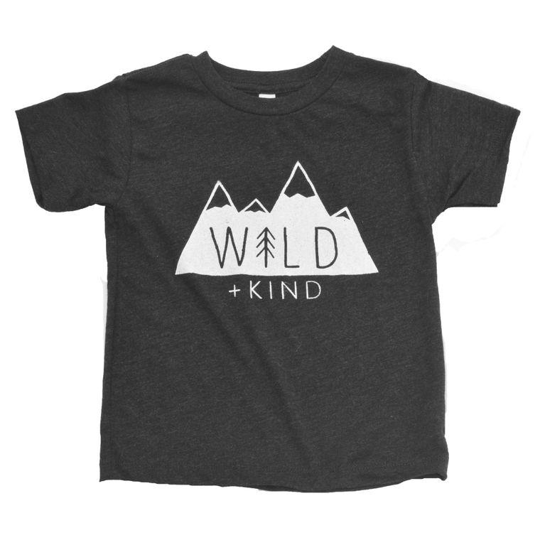 Wild + Kind Toddler Tee (Heathered Black)