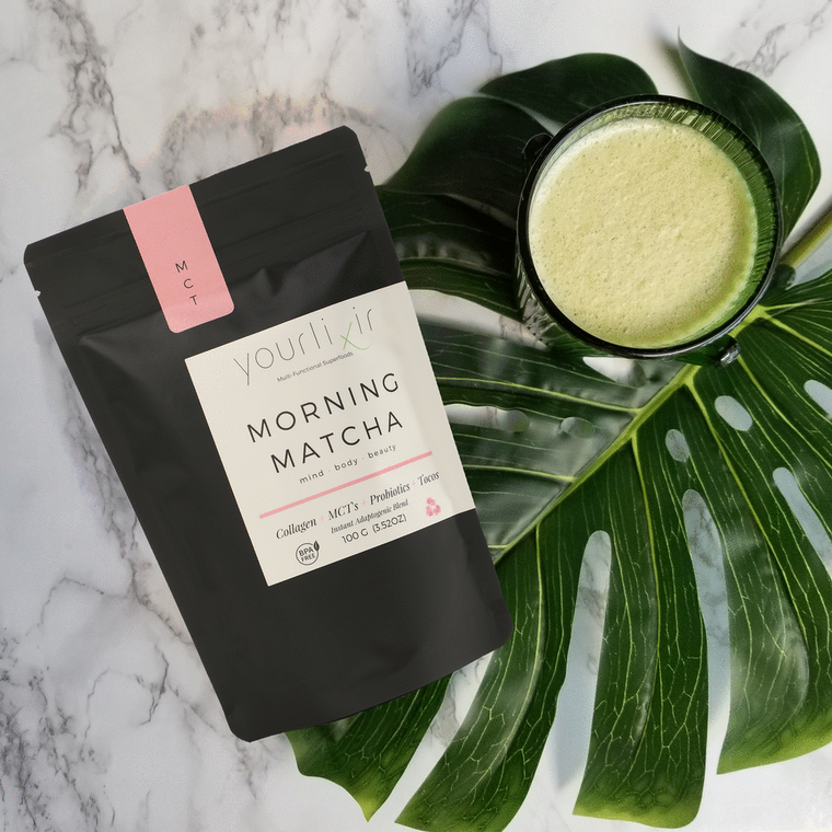 Morning Matcha Collagen & Probiotic Latte Blend - 100 Grams