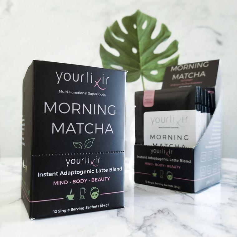 Morning Matcha Collagen & Probiotic Latte Sachets (12 per box)