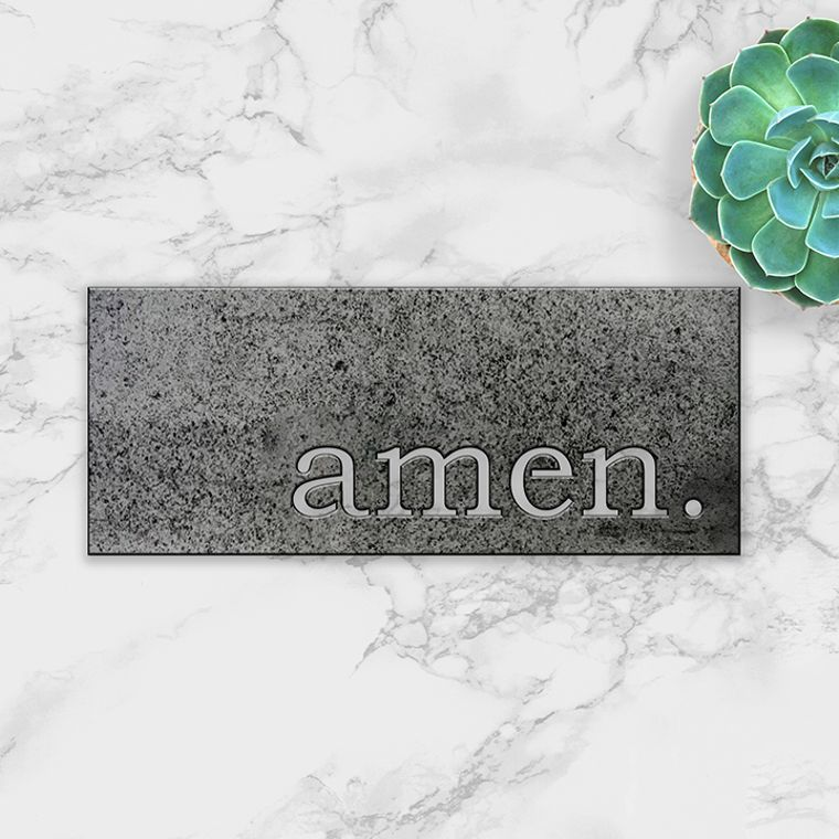 amen. Metal Plaque
