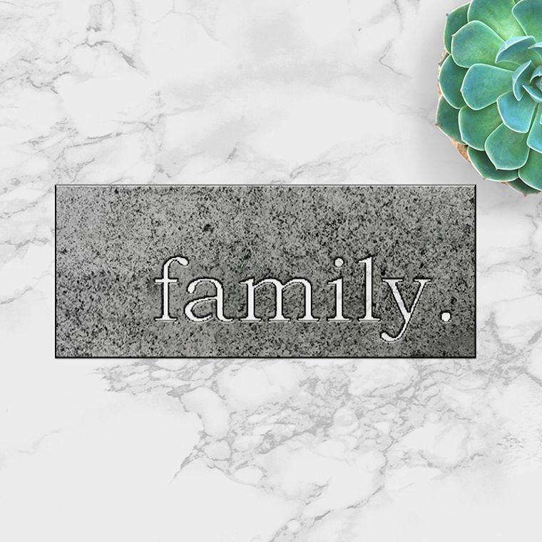 family. Metal Plaque