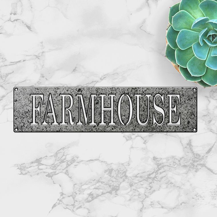 Simply Said- Farmhouse in metal