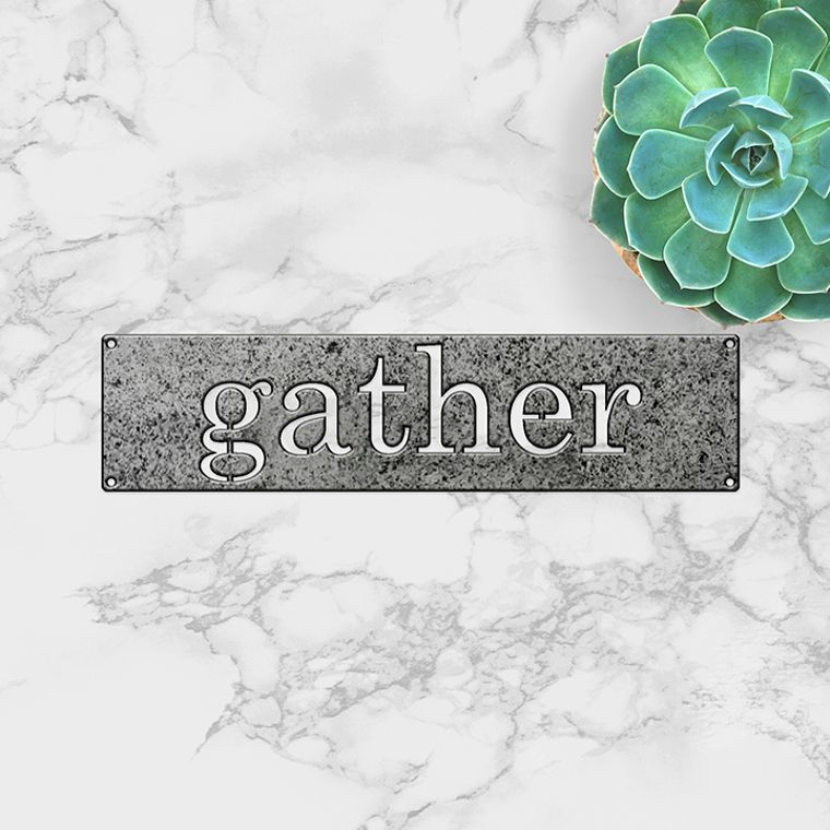 Simply Said- Gather in metal