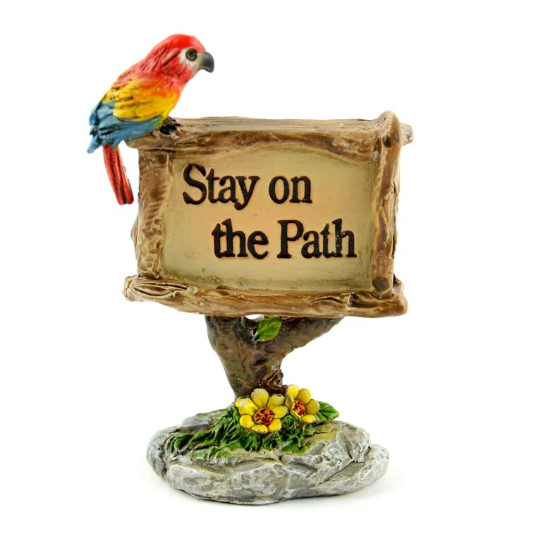 "2.5"" Stay On Path' Sign"