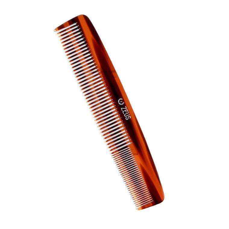 "Zeus 7.5"" Handmade Saw Cut 2 in1 Beard and Mustache Comb"