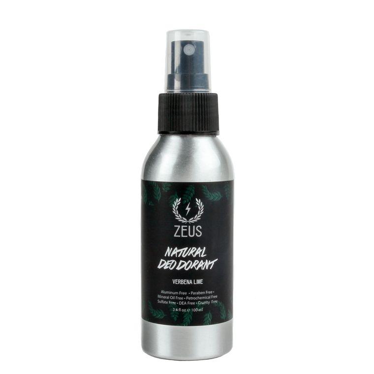 Zeus Natural Deodorant Spray, Natural Verbena Lime