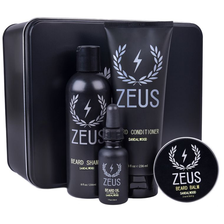 Zeus Deluxe Beard Care Kit, Sandalwood