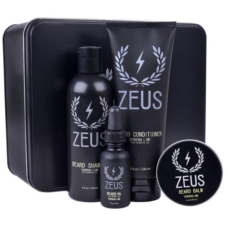 Zeus Everyday Beard Grooming Kit, Verbena Lime