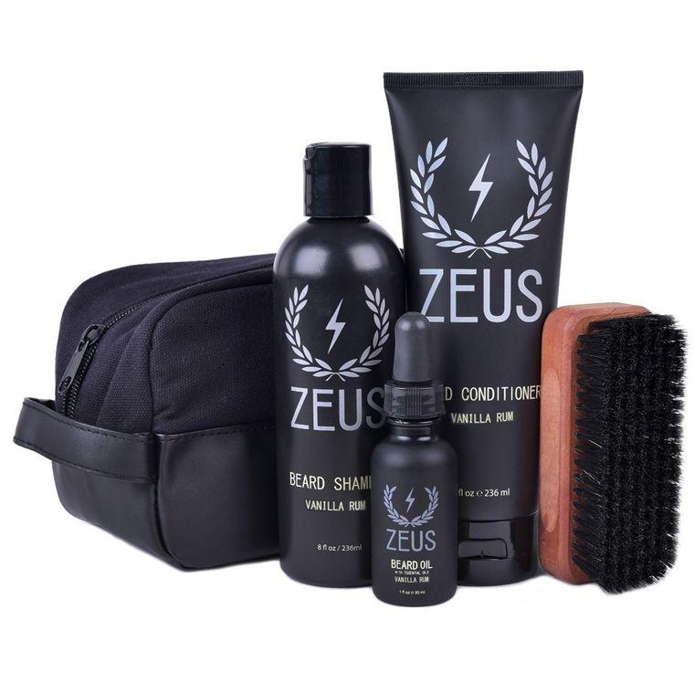 Zeus Deluxe Beard Care Dopp Kit Vanilla Rum