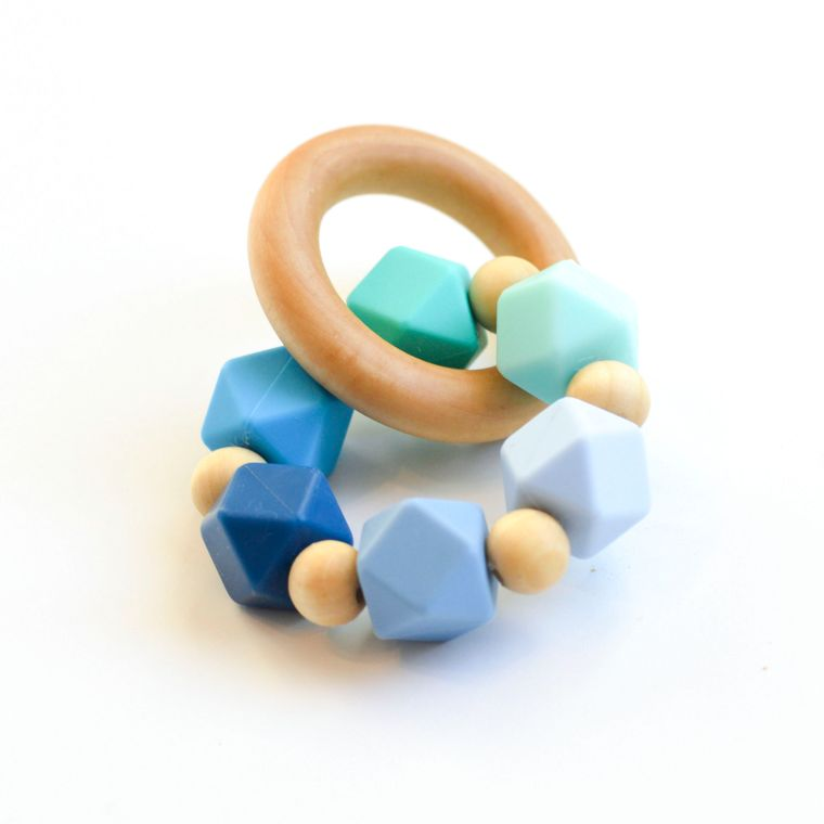 Hexi Teething Ring BLG