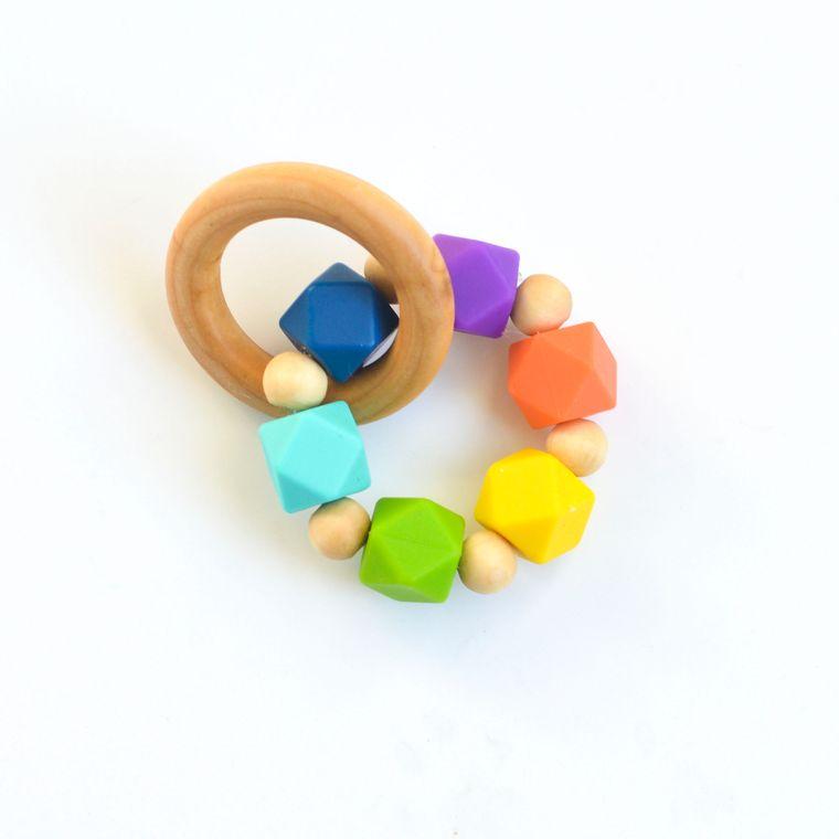 Hexi Teething Ring RNB