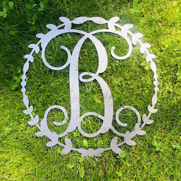 Wreath Vine Letters- Metal (Full Alphabet)