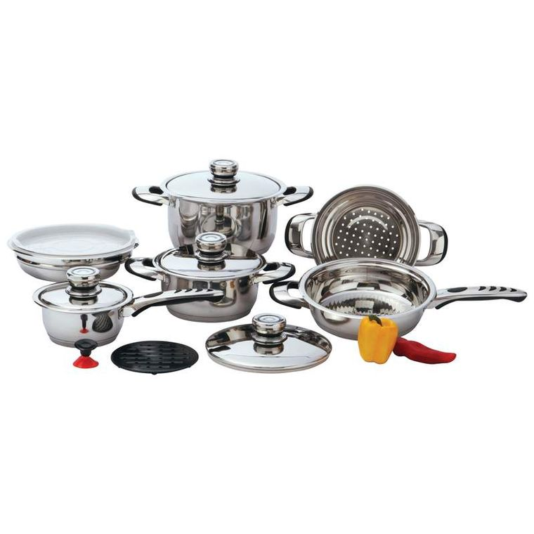 Chef's Secret 12pc 9-Ply Waterless Heavy-Gauge Stainless Steel Cookware Set