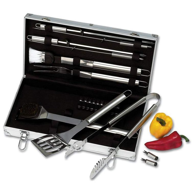 Chefmaster 22pc Stainless Steel Barbeque Tool Set