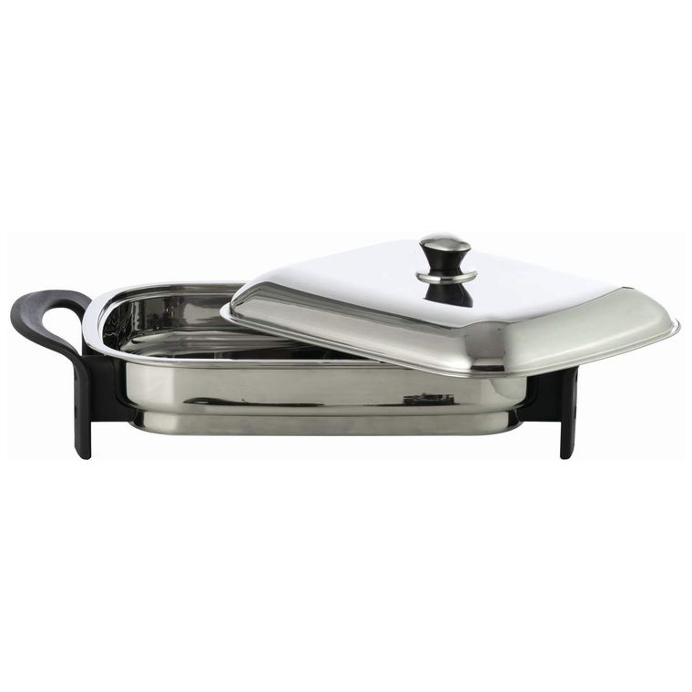 "Precise Heat T304 Stainless Steel 16"" Rectangular Electric Skillet"
