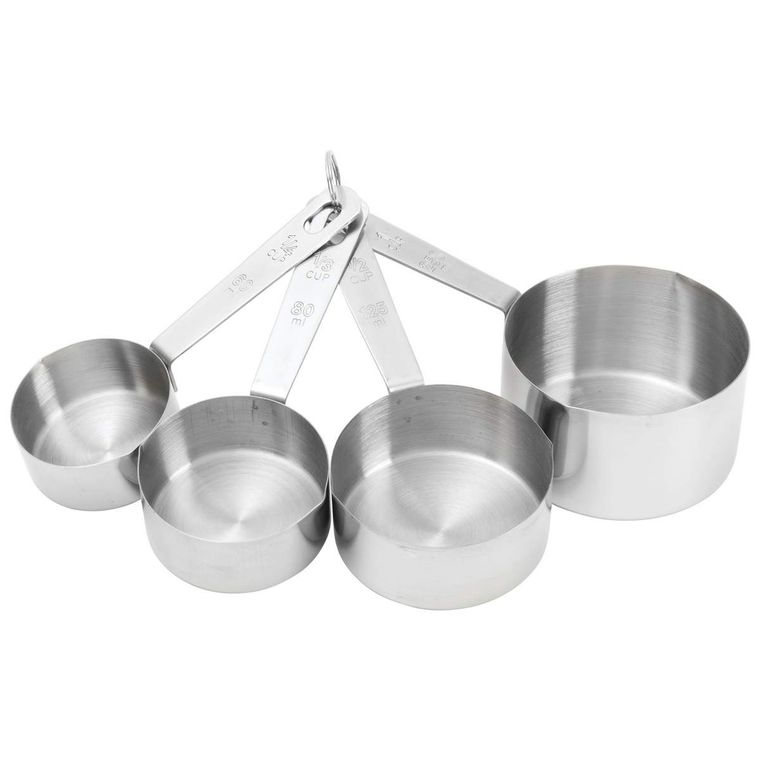 Chef's Secret 4pc T304 Stainless Steel Measuring Cup Set (4)