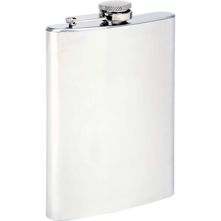 Maxam 8oz Stainless Steel Flask (Stainless)