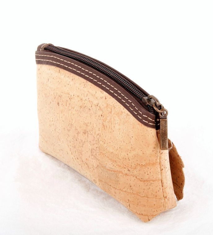 Cork and Leather Change Purse