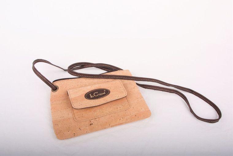 Natural Cork Vegan Crossbody Bag