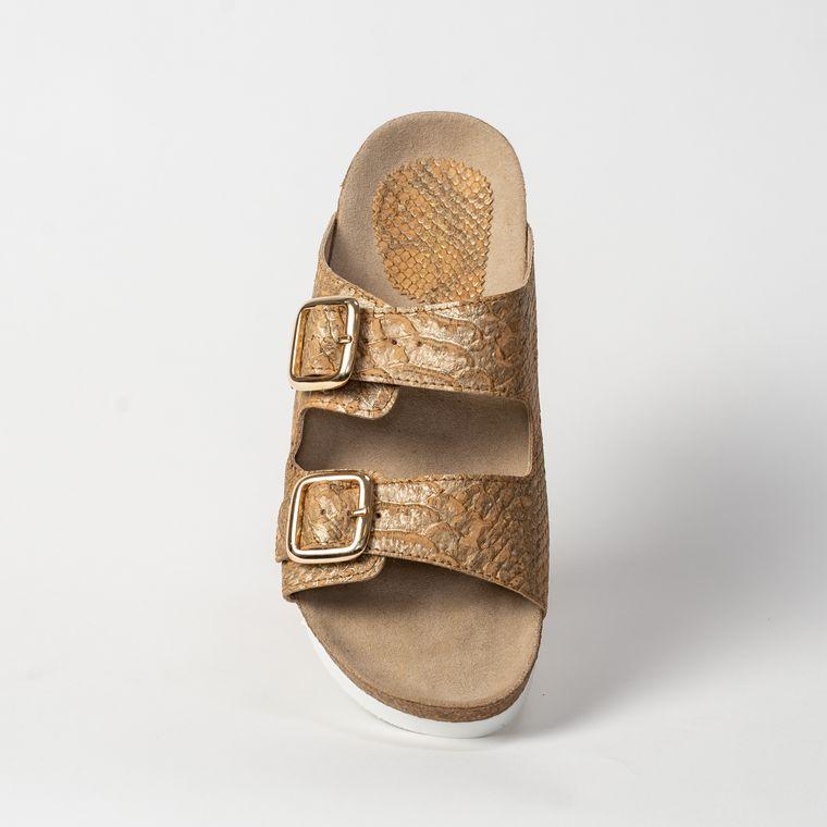 Women's Cork Sandal - Natural Piton Cork
