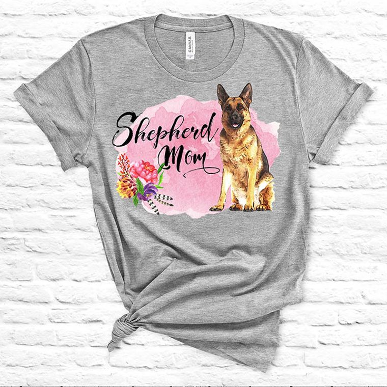 Shepherd Mom, German Shepherd Dog T-shirt