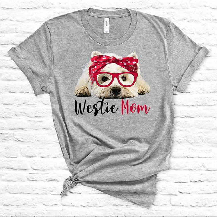 Westie Mom Dog T-shirt