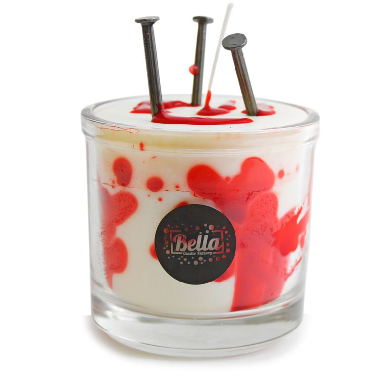 Nailed Halloween Bloody Candle Decor - Strawberry Lemon Ice