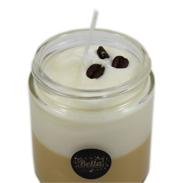 Bean Place Dessert Jar Candle With Lid - Cappuccino Espresso Scent