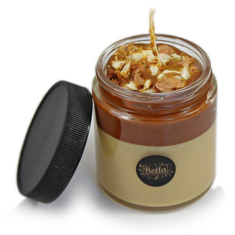 Choc-A-Lot Dessert Jar Candle With Lid - Chocolate Scent