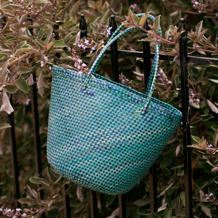 Plain Coco Palm Straw Bag - Marina