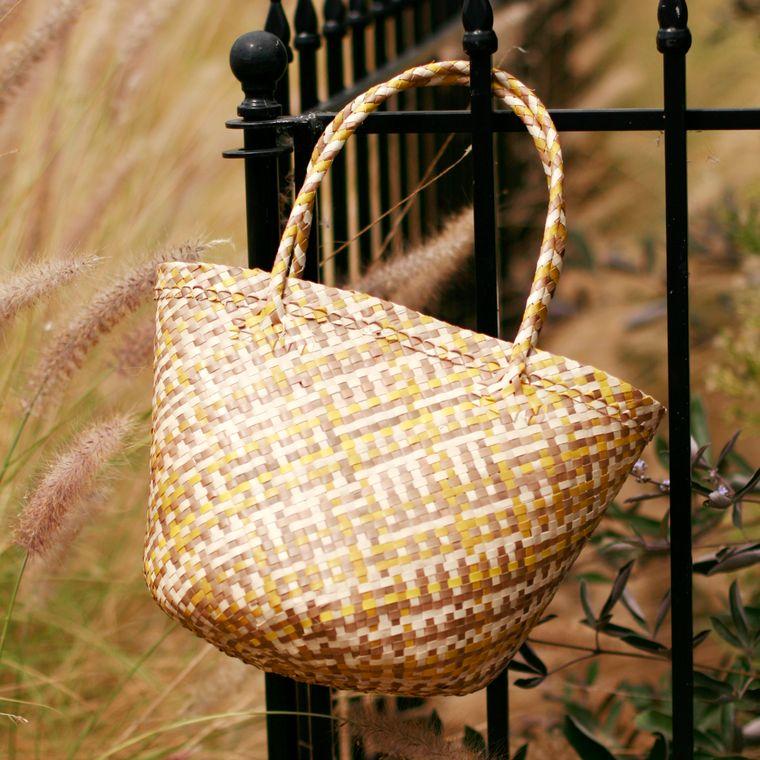 Plain Coco Palm Straw Bag - Lemonade (1-3 days)
