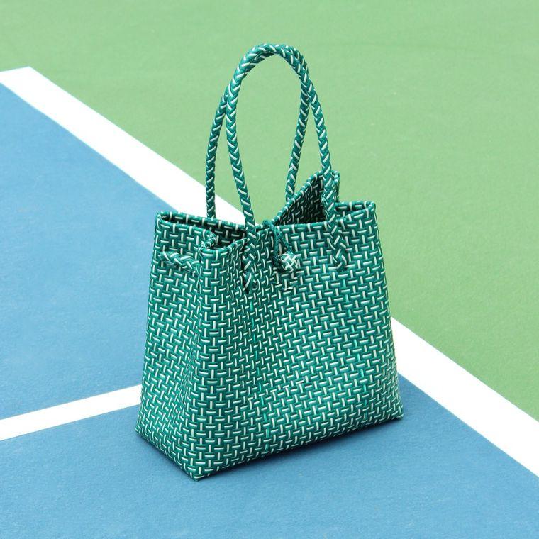 Green TOKO Recycled Woven Beach Bag, Medium Size (1-3 days)