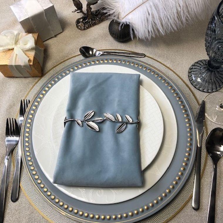 Leaf Wrap, Shiny Silver Single