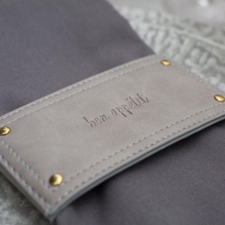 Leather Style Wrap, Grey Single