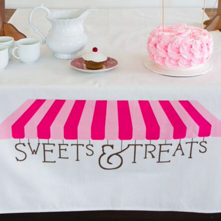 Pink Sweets Table Banner